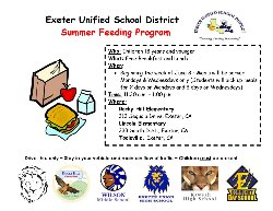 EUSD Summer Feeding Program- English
